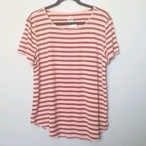 Maurices NWT 2X striped short sleeve tee